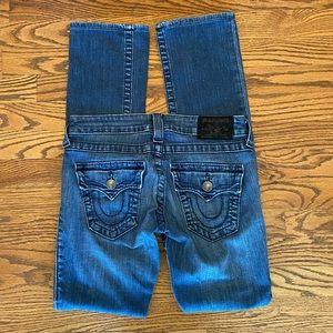 True Religion 'Billy' Straight Leg Jeans Sz 25 EUC